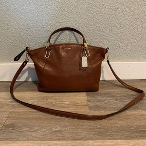 Coach Pebble Leather Kelsey Satchel Crossbody